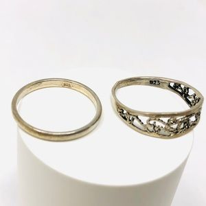 Jewelry - Two sterling silver rings